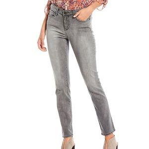 NYDJ Grey Straight Leg Jeans - size 6